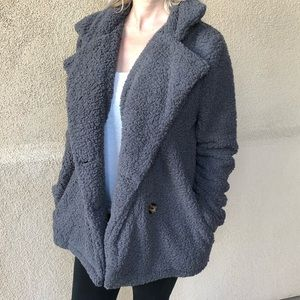 Boutique Jackets & Coats - ✨Gray Colored Cozy Fleece Coat✨